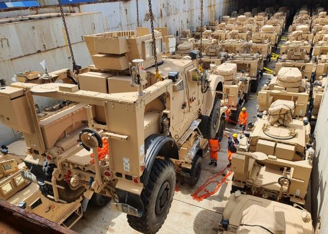 405th AFSB M-ATVs